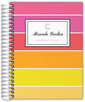 Sunset Paradise Stripes Wedding Planner