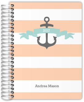 Peach and Blue Anchor Wedding Planner