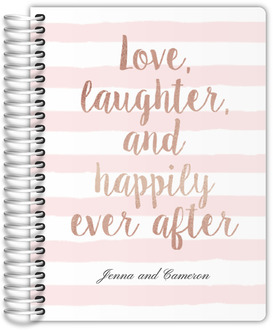 Happily Ever After Quote Wedding Journal