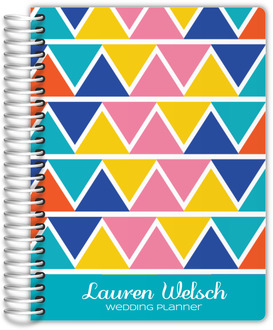 Bold Hues Triangle Pattern Wedding Planner