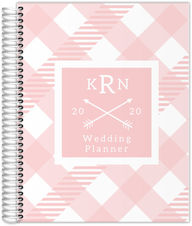 Modern Pink Plaid Wedding Planner