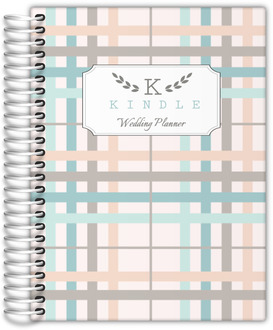 Preppy Monogram Stripes Wedding Planner