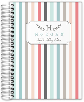 Modern Pintstripes Wedding Journal