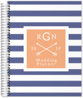 Bold Blue Stripes Wedding Planner