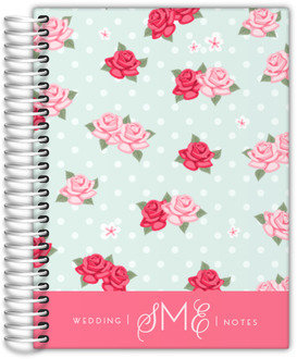 Whimsical Pink Roses Wedding Journal