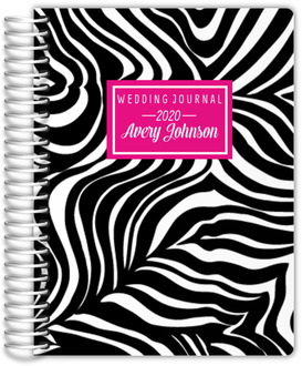 Modern Zebra Stripes Wedding Journal