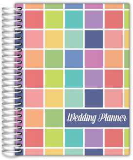 Bright Colorful Swatches Wedding Planner