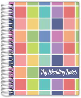 Bright Colorful Swatches Wedding Journal