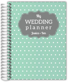Vintage Mint Dots Wedding Planner