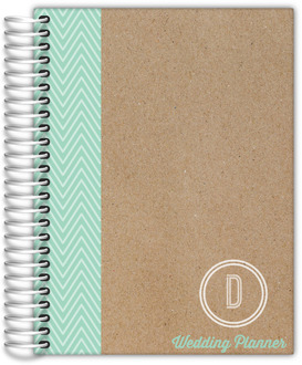 Krafty Mint Monogram Wedding Planner