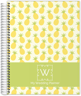 Whimsy Pineapple Pattern Wedding Planner