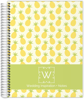 Whimsy Pineapple Pattern Wedding Journal