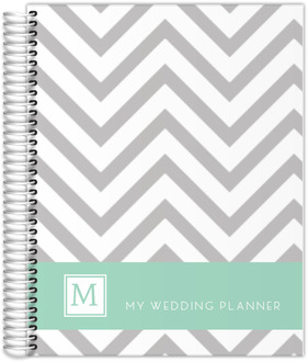 Modern Gray Chevron Wedding Planner