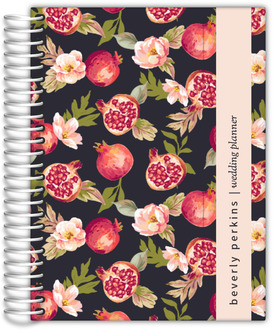 Vintage Pomegranate Blooms Wedding Planner
