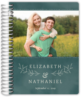Watercolor Botanical Leaf Wedding Planner