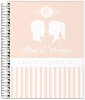 Pretty Silhouette Wedding Journal