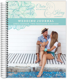 Elegant Watercolor Blooms Wedding Journal