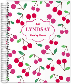 Whimsical Cherry Pattern Wedding Planner