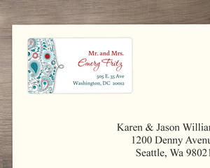 Whimsical Romance Address Label