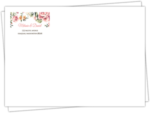 Pink Roses Custom Wedding Envelope