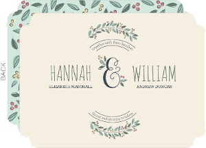 Botanical Wreath Wedding Invitation