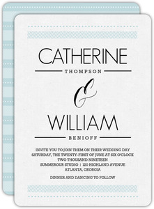 Modern Stripes and Typography Wedding Invitation
