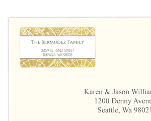Gold Metallic Antique Style Address Label