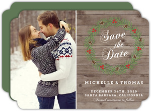Christmas In The Woods Save The Date Card