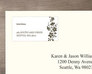 Bold and Beautiful Address Label