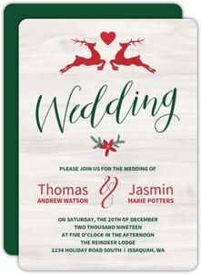 Christmas wedding invitations christmas wedding invites christmas wedding invitations filmwisefo