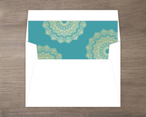 Bright Mandala Faux Gold Thank You Card