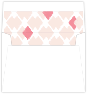Blush Ikat Pattern Wedding Envelope Liner