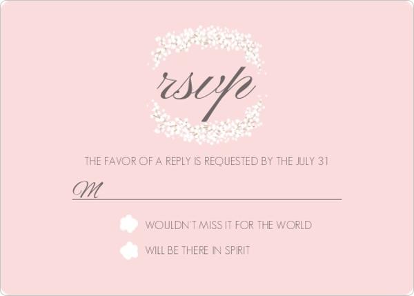 Wedding Response Cards.Blush Pink Gold Foil Double Frame Wedding Response Card