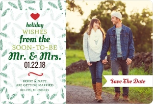 Fun Typographic Tree Save The Date Magnet