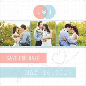 Smarty Charts Unique Save The Date Magnet