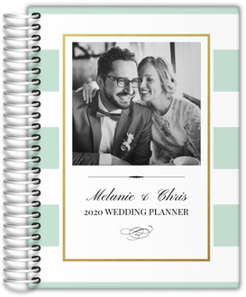 Classic Mint and Gold Faux Foil Frame Wedding Planner