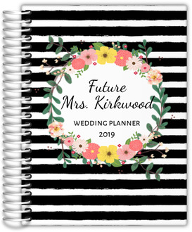 Floral Striped Wedding Planner