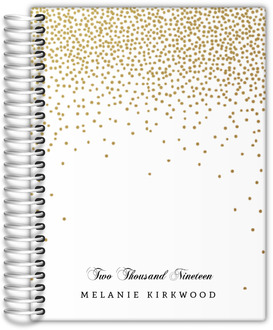 Gold Faux Glitter Wedding Planner