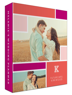 Colorblock Photo 3 Ring Binder Wedding Planner