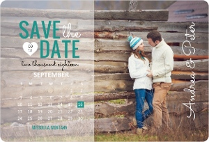 Charming Photo Calendar Save The Date Magnet