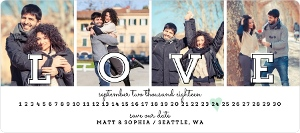 Love Multiple Photos Save The Date Magnet