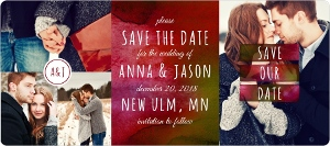 Burgundy Watercolor Save The Date Magnet