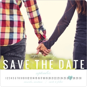 Modern Calendar Save The Date Magnet