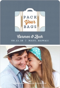 Destination Pack Your Bags Save The Date Magnet