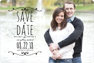 Classic Frame Save The Date Magnet