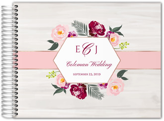 Floral Boho Wedding Guest Book