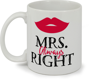 Fun Red Lips Mrs. Custom Mug