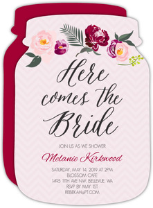Floral Boho Bridal Shower Invitation