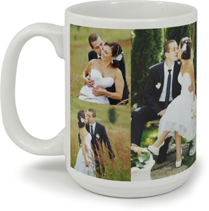 Love Story Photo Collage Custom Mug