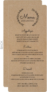 Chalk Wreath Wedding Menu Card